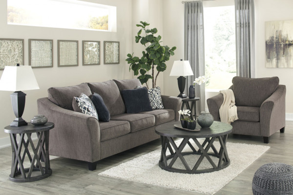 ASHLEY NEMOLI SLATE SOFA & CHAIR & A HALF (45806-38-23)