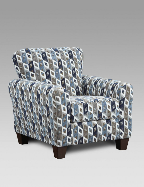 AFFORDABLE Cube Blue Accent Chair (9001 CUBE BLUE)