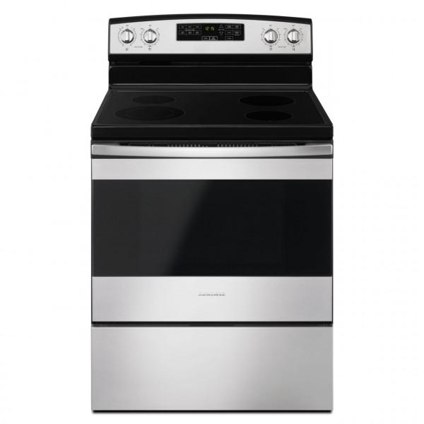 "AMANA 30"" ELECTRIC RANGE W/ SELF-CLEAN, STAINLESS STEEL (AER6603SFS)"