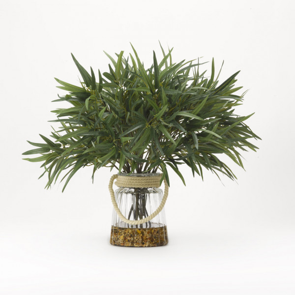 D&W SILKS WILLOW BRANCHES IN GLASS VASE (191008)
