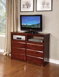 DISCOVERY MERLOT 6 DRAWERS ENTERTAINMENT DRESSER (2871)