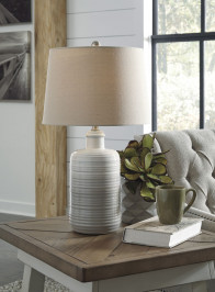 ASHLEY MARNINA TAUPE PAIR OF LAMPS (L121854)