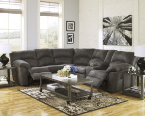 ASHLEY TABOO PEWTER SECTIONAL (27801-48-49)
