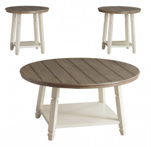 ASHLEY BOLANBROOK TWO-TONE 3 PACK OF TABLES (T377-13)
