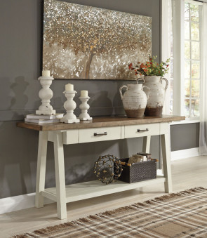 ASHLEY STOWNBRANNER TWO-TONE SOFA TABLE (T640-4)