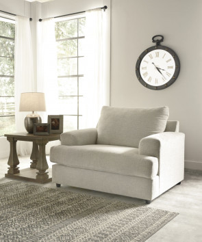 ASHLEY SOLETREN STONE CHAIR & A HALF & OVERSIZED OTTOMAN (95104-23-08)