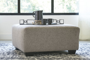 ASHLEY BALLINASLOE PLATINUM OVERSIZED OTTOMAN (80702-08)