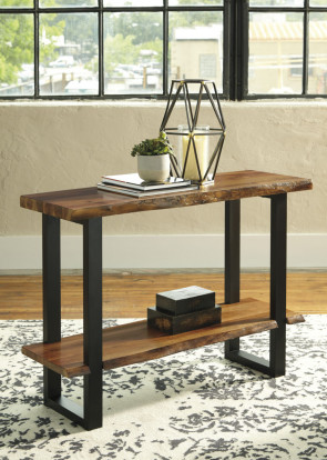 ASHLEY BROSWARD TWO-TONE SOFA TABLE (T855-4)